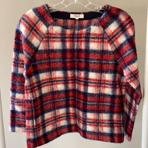 Madewell Wool Blend Plaid Pullover